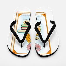 So Many Books to Write Flip Flops