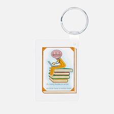 So Many Books to Write Keychains