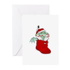 Dragon Stocking Greeting Cards (Pk of 20)