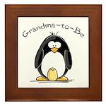 Grandma to Be Penguin Framed Tile