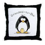 Grandma to Be Penguin Throw Pillow