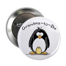 "Grandma to Be Penguin 2.25"" Button"