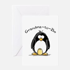 Grandma to Be Penguin Greeting Card
