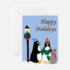 Penguin Choir Greeting Card