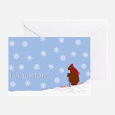 Let it Snow Winter Bear Greeting Card