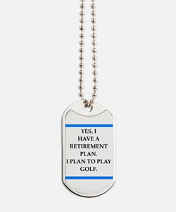 golfer Dog Tags