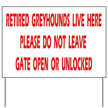 GATE YARD SIGN