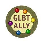 "Ally Baubles -GLBT- 3.5"" Button"