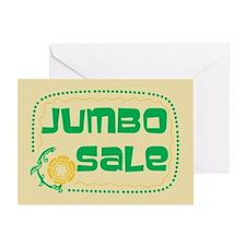 Jumbo Sale Greeting Card