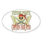 Captain Horatio Oval Sticker