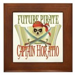 Captain Horatio Framed Tile