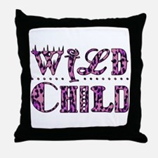WILD CHILD Throw Pillow