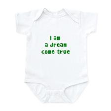 I am a dream (green writing) Infant Bodysuit
