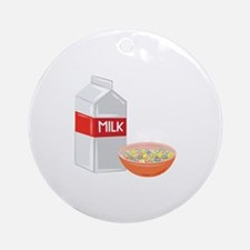 Milk and Cereal Round Ornament