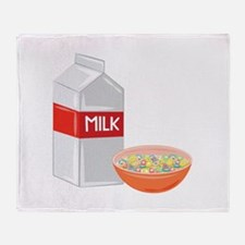 Milk and Cereal Throw Blanket