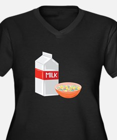 Milk and Cereal Plus Size T-Shirt