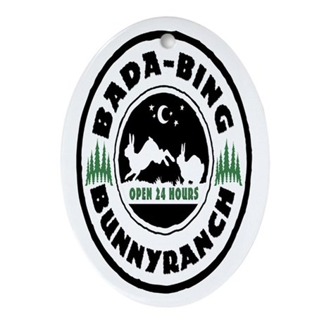 Bada-Bing Bunnyranch Keepsake (Oval)
