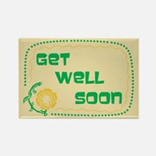 Get Well Soon Rectangle Magnet