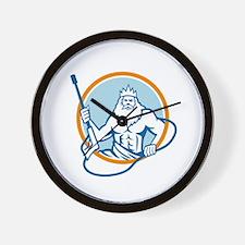 Neptune Water Blaster Circle Retro Wall Clock