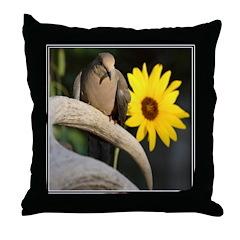 Sunflower Dove Throw Pillow