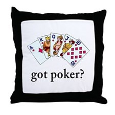 Got Poker Throw Pillow