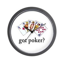 Got Poker Wall Clock