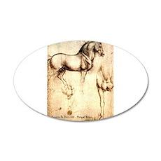 Leonardo da Vinci Study of Horses Decal Wall Stick