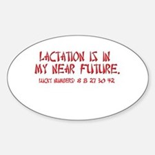Lactation Fortune Oval Decal