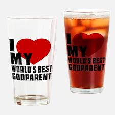 I love My World's Best Godparent Drinking Glass
