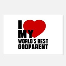I love My World's Best Go Postcards (Package of 8)
