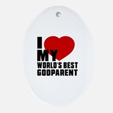I love My World's Best Godparent Oval Ornament
