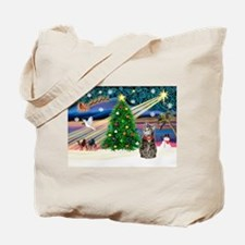 Xmas Magic & Tiger Cat Tote Bag