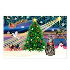 Xmas Magic & Tiger Cat Postcards (Package of 8)