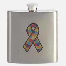 Autism Ribbon Flask