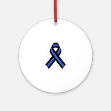 Police Ribbon Round Ornament