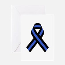 Police Ribbon Greeting Cards