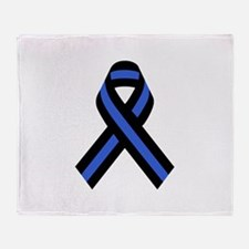 Police Ribbon Throw Blanket