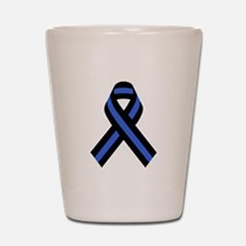 Police Ribbon Shot Glass