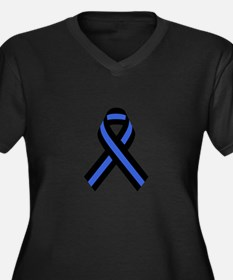 Police Ribbon Plus Size T-Shirt