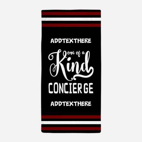 Personalized Gift for Concierge Beach Towel