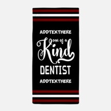 Personalized Gift for Dentists Beach Towel