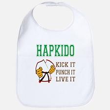 Hapkido kick it punch it live it Bib