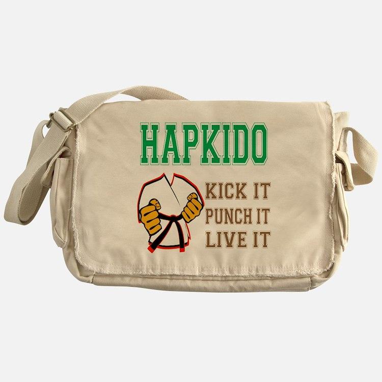 Hapkido kick it punch it live it Messenger Bag