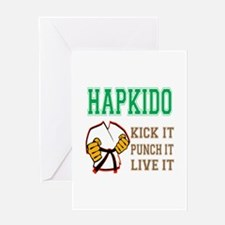 Hapkido kick it punch it live it Greeting Card