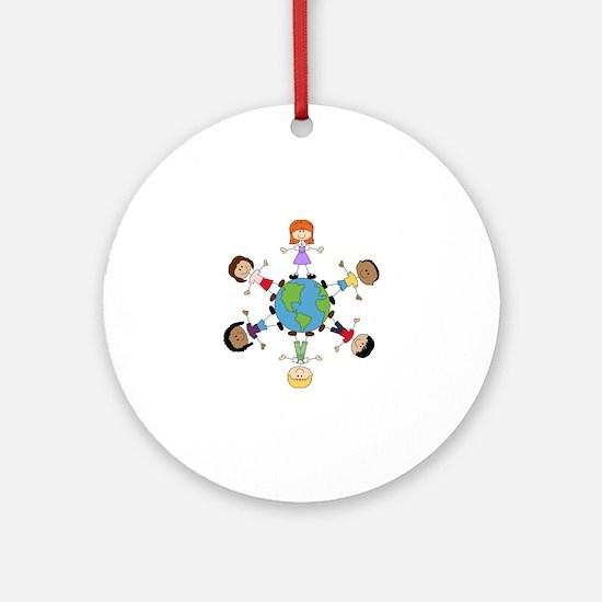 Children Around The World Round Ornament