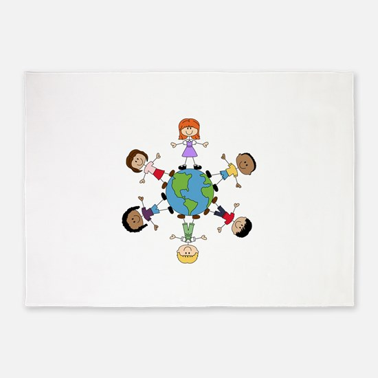 Children Around The World 5'x7'Area Rug