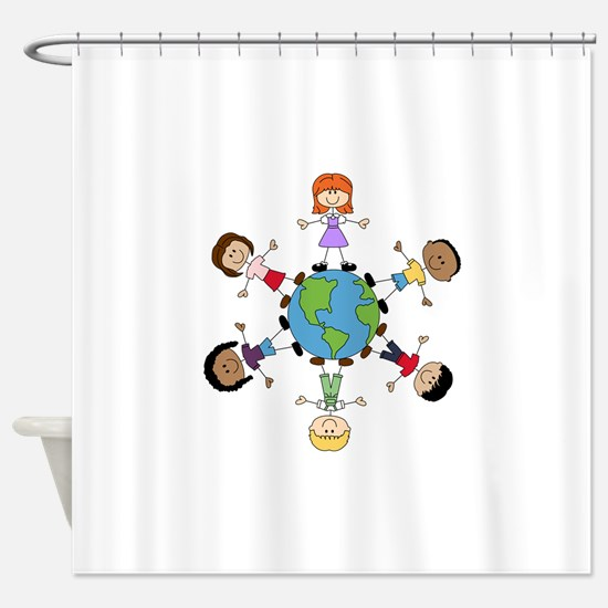 Children Around The World Shower Curtain