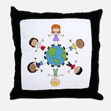 Children Around The World Throw Pillow