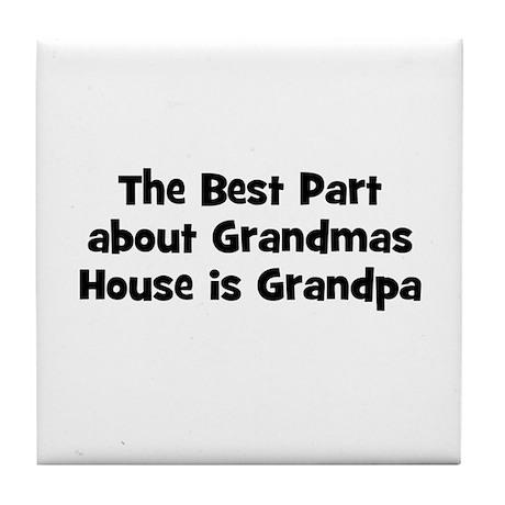 The Best Part about Grandmas Tile Coaster