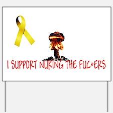 I Support Yellow Ribbon Yard Sign